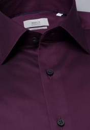 ETERNA LANGARM HEMD COMFORT FIT GENTLE SHIRT TWILL WEINROT UNIFARBEN