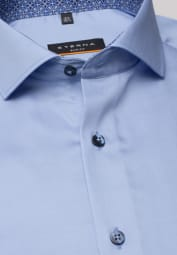 ETERNA LANGARM HEMD SLIM FIT COOL SHIRT SATINBINDUNG HELLBLAU UNIFARBEN