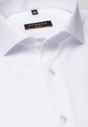 ETERNA LANGARM HEMD SLIM FIT COVER SHIRT TWILL WEISS UNIFARBEN