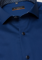 ETERNA LANGARM HEMD SLIM FIT COOL SHIRT TWILL MARINE UNIFARBEN