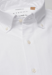ETERNA LANGARM HEMD MODERN FIT UPCYCLING SHIRT OXFORD WEISS UNIFARBEN