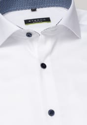 ETERNA LANGARM HEMD SUPER-SLIM PERFORMANCE SHIRT STRETCH WEISS UNIFARBEN