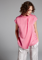KURZARM BLUSE 1863 BY ETERNA - PREMIUM TENCEL ROSE UNIFARBEN