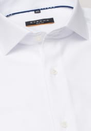 ETERNA LANGARM HEMD SLIM FIT COOL SHIRT TWILL WEISS UNIFARBEN