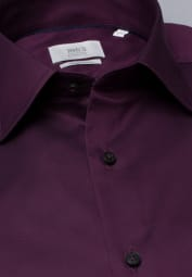 ETERNA LANGARM HEMD MODERN FIT GENTLE SHIRT TWILL WEINROT UNIFARBEN