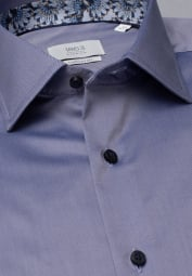 ETERNA LANGARM HEMD COMFORT FIT GENTLE SHIRT TWILL GRAU UNIFARBEN