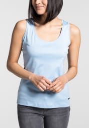 ETERNA TOP/ TANK TOP HELLBLAU UNIFARBEN