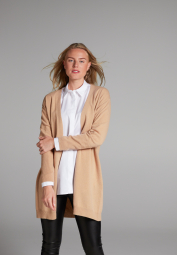 ETERNA STRICK CARDIGAN CAMEL UNIFARBEN
