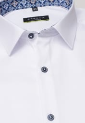 ETERNA LANGARM HEMD SUPER-SLIM COVER SHIRT TWILL WEISS UNIFARBEN