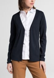 ETERNA STRICK CARDIGAN MARINE UNIFARBEN