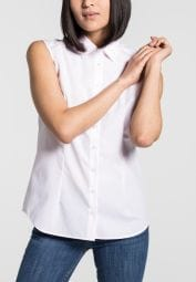 ETERNA WITHOUT SLEEVES BLOUSE MODERN CLASSIC POPLIN ROSE UNI