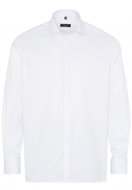 ETERNA CHEMISE À MANCHES LONGUES COMFORT FIT COVER SHIRT TWILL BLANC
