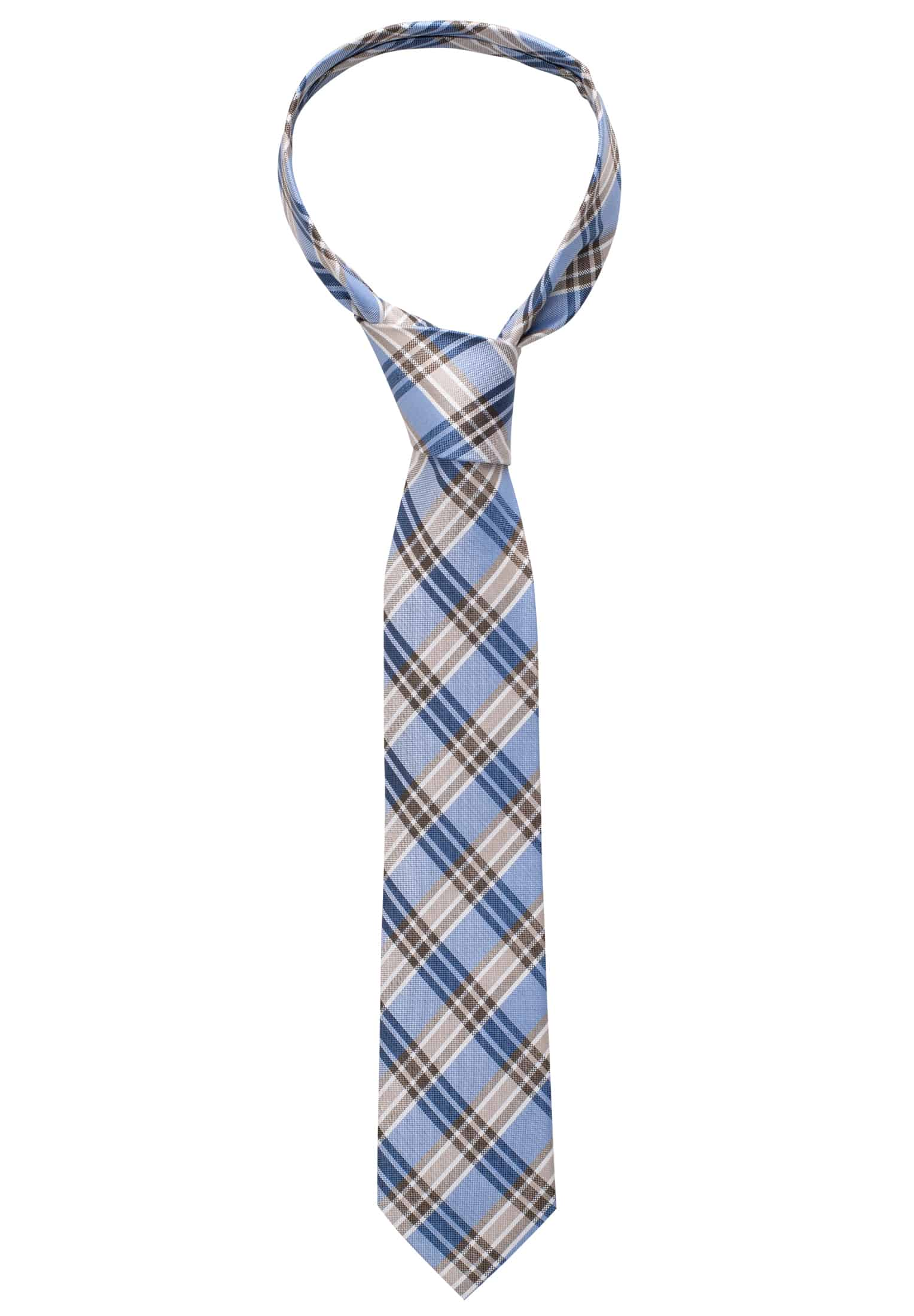 Clothing & Accessories ETERNA TIE BROWN/BLUE CHECKED