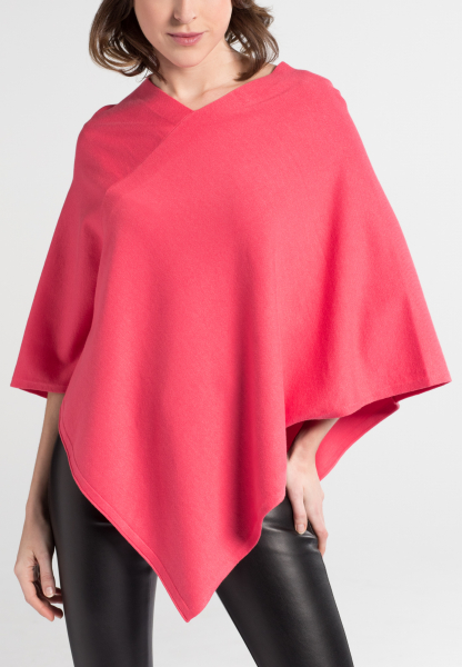 ETERNA STRICK PONCHO FLAMINGO UNIFARBEN