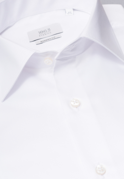 ETERNA LANGARM HEMD MODERN FIT GENTLE SHIRT TWILL WEISS UNIFARBEN