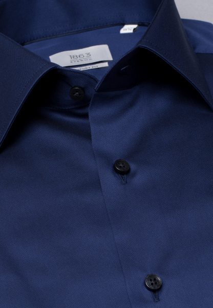 ETERNA LANGARM HEMD COMFORT FIT GENTLE SHIRT TWILL MARINEBLAU UNIFARBEN