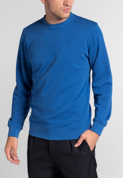 ETERNA SWEATSHIRT CYAN UNIFARBEN