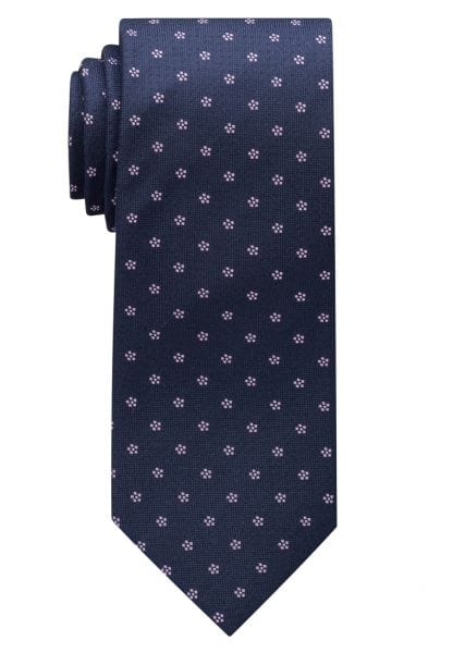 ETERNA TIE PINK / NAVY PATTERNED