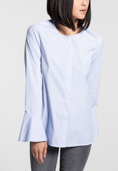 LONG SLEEVE BLOUSE 1863 BY ETERNA - PREMIUM LIGHT BLUE STRIPED