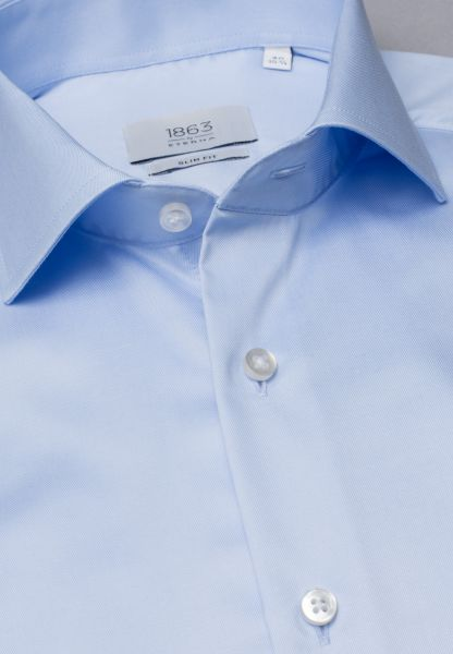 ETERNA LANGARM HEMD SLIM FIT TWILL HELLBLAU UNIFARBEN
