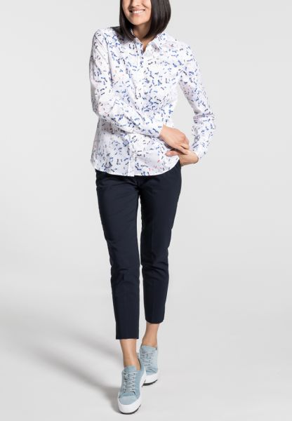 ETERNA LONG SLEEVE BLOUSE MODERN CLASSIC BLUE/WHITE PRINTED
