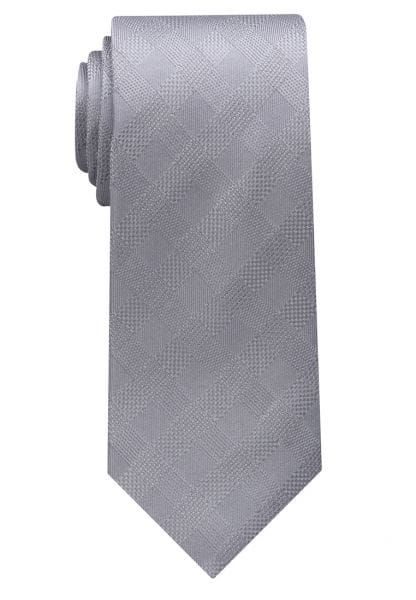 ETERNA TIE SILVER GRAY CHECKED