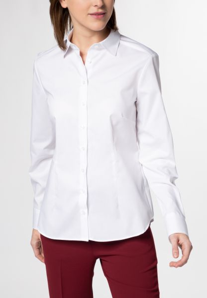 ETERNA LONG SLEEVE BLOUSE MODERN CLASSIC POPLIN WHITE UNI