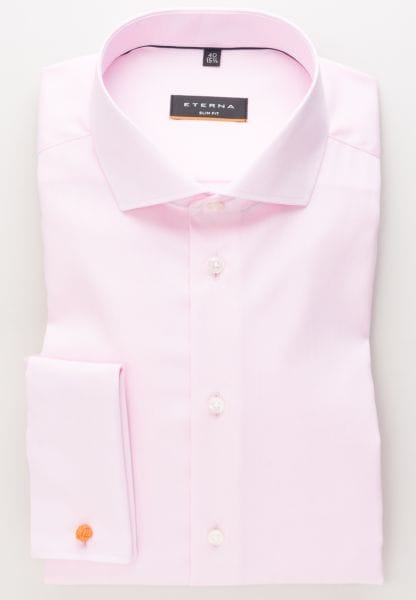 ETERNA LANGARM HEMD SLIM FIT PINPOINT ROSA UNIFARBEN