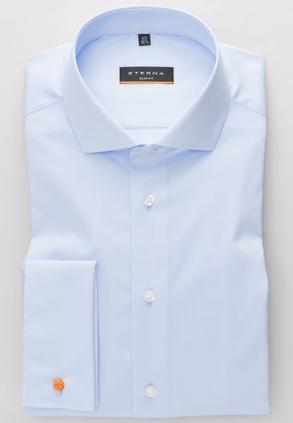 ETERNA LANGARM HEMD SLIM FIT STRETCH HELLBLAU UNIFARBEN
