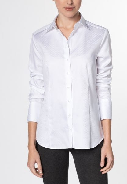 ETERNA LONG SLEEVE BLOUSE MODERN CLASSIC JACQUARD WHITE UNI