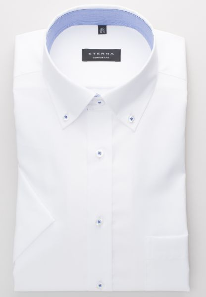 ETERNA HALF SLEEVE SHIRT COMFORT FIT POPLIN WHITE UNI