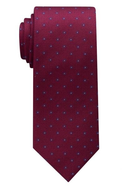 ETERNA TIE WINE RED / BLUE PATTERNED
