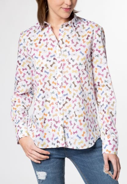 ETERNA LONG SLEEVE BLOUSE MODERN CLASSIC COLORFUL PRINTED